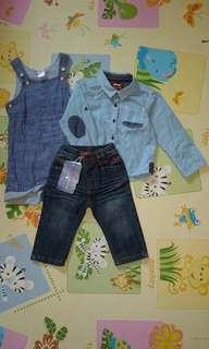 Poney and H&M boy clothes (romper/shirt/pant)