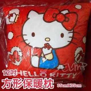 【🉐低價出清品🎉】~☆藝羚小鋪ELMP☆~ Kitty 方形保暖枕 四方抱枕