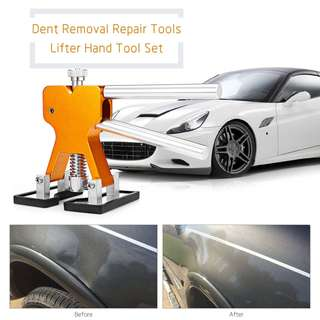 #July100 - SX - Q011 AUTO DENT REPAIR TOOL PULLER TABS SET (GOLDEN) REPAIR TOOL + 18PCS GLUE TABS