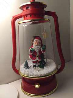 Musical Snowing Decoration Red Santa