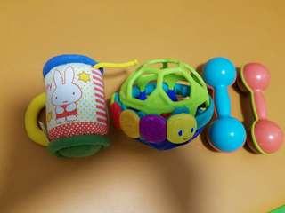 BB發聲玩具 (4件,包括miffy 搖鈴)