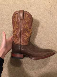 "Genuine leather boots ""Justin Boots"" size 11"