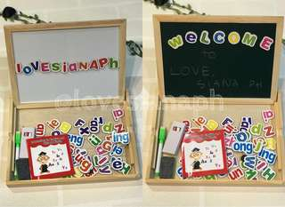 Double-Sided Drawing Board with Magnetic Letters