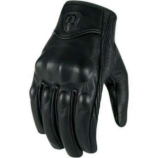 ICON Motor Motorcycle Motorcross Riding Full Leather Pursuit Stealth Glove