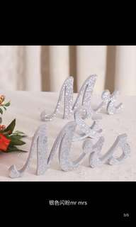 """Mr"" & ""Mrs"" Wedding Reception Table"