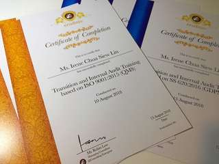 Certificate instant print service