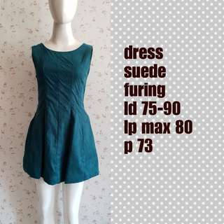 Dress suede green