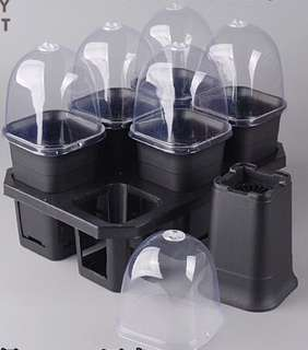 A set of flower pot & covers with vent on top (large size)