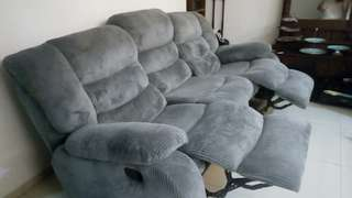 Reclining sofa 3 sited