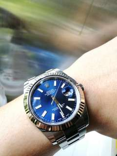 Rolex datejust 2 白金圈 blue dial