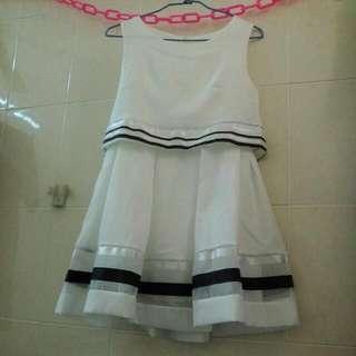 🚚 白色連身洋裝#女裝半價拉