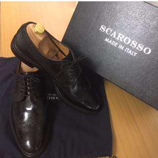 Scarosso Black Derby Dress Shoe
