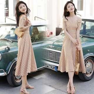 Offsie Plaid Dress