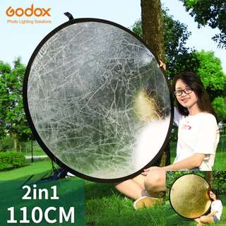 "🚚 Godox 43"" 110cm 2 in 1 Portable Collapsible Light Round Photography Reflector for Studio Multi Photo Disc"
