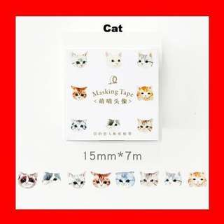 🚚 Washi Tape (Cat)