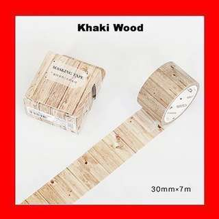 🚚 Washi Tape (Khaki Wood)