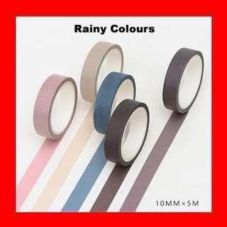 🚚 Washi Tape (Rainy Colours Set)