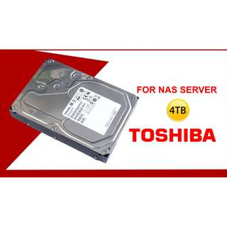 [CLEARANCE PRICE] Toshiba NAS 4TB 7200RPM SATA 6Gbps 128MB Cache 3.5-inch Internal Hard Drive (MN04ACA400) - BUNDLE OF 2 HDDs
