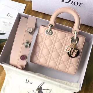 My Lady Dior Powder Pink Timeless Pieces Cannage Lambskin