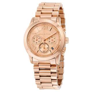 COOPER CHRONOGRAPH ROSE GOLD-TONE STAINLESS STEEL LADIES WATCH MK6275