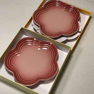 Le Creuset Small Flower Plate x 2 LC RQ 小平花碟