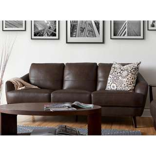 New top grain leather sofa abd loveseat