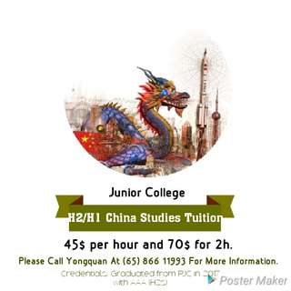 H1/H2 China Studies Private Tuition