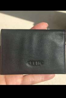 New Cettic Quality Black leather card holder from US