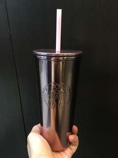 Cold cup 16oz ss pink