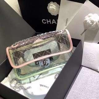 BEST SELLING Chanel SS18 Transparent Flap Bag
