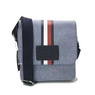 Tommy Hilfiger Canvas Sling bag Cross body Bag Blue Grey