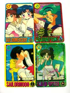 Sailormoon vintage mini card collection - BUY 5 PCS, FREE 1 PC #July100