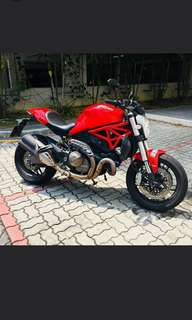 Ducati Monster 821. ( Reg 2014 December)