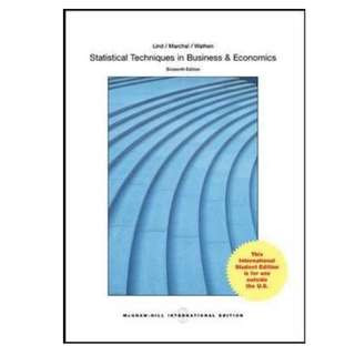 Statistical Techniques in Business and Economics 16th