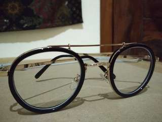 Glasses Black Golden Minus / kacamata minus