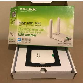 TP-Link AC1200 Wireless High Gain Dual Band USB Adapter (Archer T4UH)