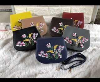 Sling bag embroidery