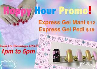 SengKang Express Gel Mani | Pedi (HAPPY HOUR PRICE!!)