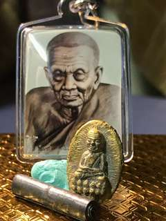 Archan Klang Seng Wat Khao Kut-Combo set Amulet