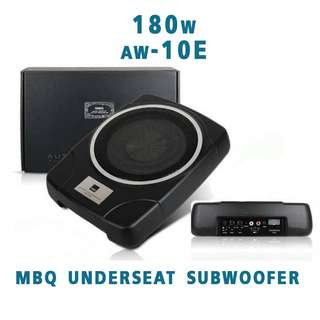 "MBQ AW-10e 10"" Car UnderSeat Subwoofer"