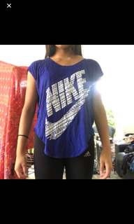 Nike tops blue and purple xs and s