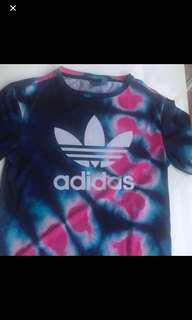 Adidas tie dye shirt size 8