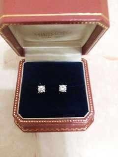 GIA鑽石耳環1.45卡 有證書