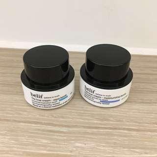 Belif the true cream aqua bomb / moisturizing bomb 10ml 斗蓬草高效水份面霜