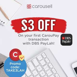 $3 OFF on your first CarouPay transaction with DBS PayLah!