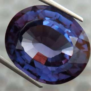 🚚 12.20 cts Lab Created Czochralski Color Changing Alexandrite Oval 15.2 x 12 mm Loose Gem