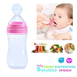 120ML Silicone Baby Squeeze Food Dispensing