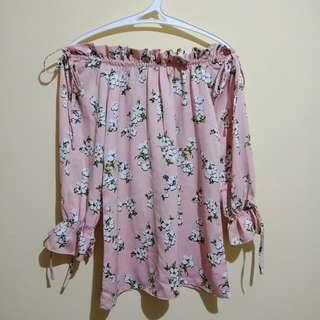 Sabrina pink top