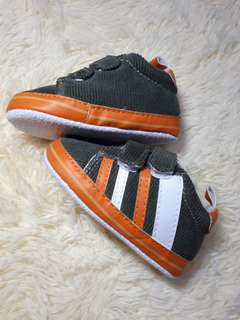Baby Boy Shoes Orange and White Stripes