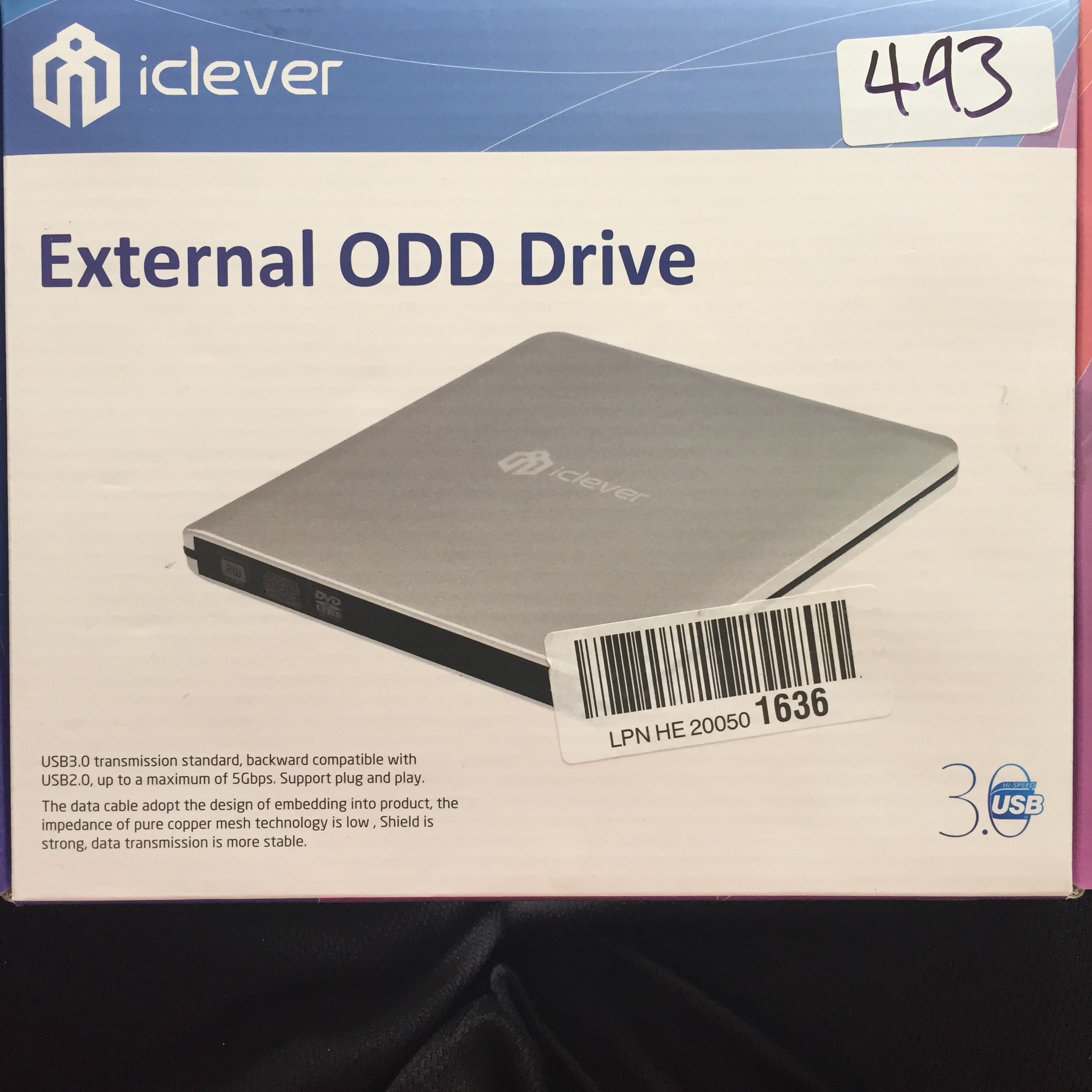 493 Iclever Usb 30 External Dvd Cd Drive High Speed Rw M Tech Burner For Apple Macbook Pro Air Imac Samsung S8 Plus And Other Pc Laptop Desktop